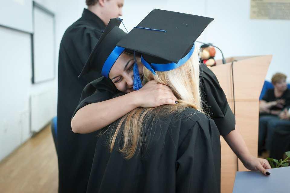 Agradecimiento de graduación de universidad