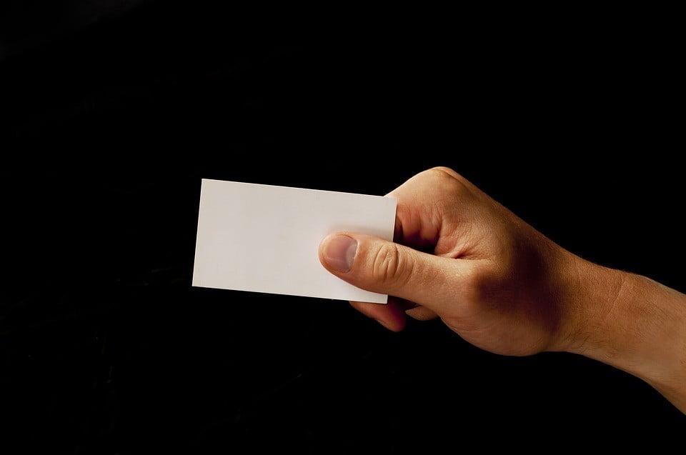 tarjetas personales atractivas